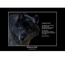 """Wilderness Wolf"" Photographic Print"