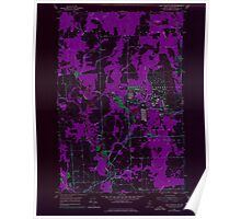 Maine USGS Historical Map Fort Fairfield NW 806702 1953 24000 Inversion Poster
