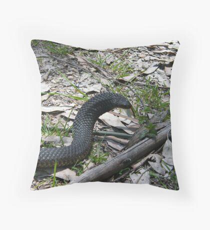 Copperhead Caught at Port Sorell Tas Throw Pillow