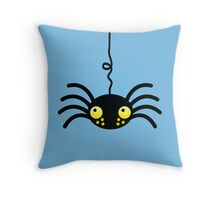 Little incy wincy spider hanging down from the neck cute! Throw Pillow