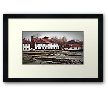 """ Each high Tide brings problems to this old Pub"" Framed Print"