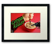 Cereal Killer at Home Framed Print