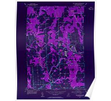 Maine USGS Historical Map Fort Fairfield NW 806703 1953 24000 Inversion Poster