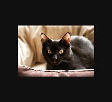 Black cat cosy in bed Unisex T-Shirt