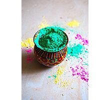 Holi Colors Photographic Print