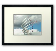 Arrows Swan Formation Framed Print