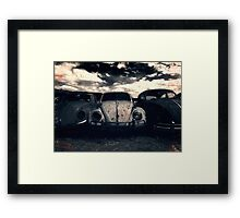 The Three Amigos: VW Beetle Graveyard, Wales, UK Framed Print