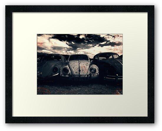 The Three Amigos: VW Beetle Graveyard, Wales, UK by Alfie Goodrich