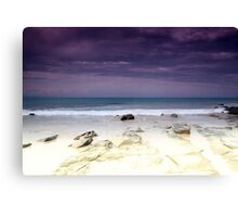 Water crashing over rocks  Canvas Print