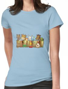 Animal Fence Womens Fitted T-Shirt