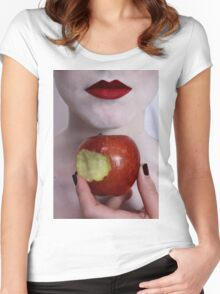 Snow White 1 Women's Fitted Scoop T-Shirt