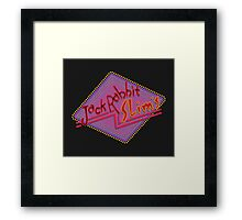 Jack Rabbit Slim's Sign Framed Print