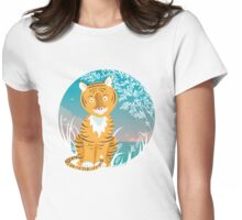 Tiger in the wild T-Shirt Womens Fitted T-Shirt