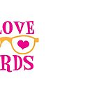 I love NERDS with cute nerdy Glasses and heart by jazzydevil