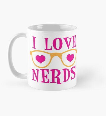 I love NERDS with cute nerdy Glasses and heart Mug