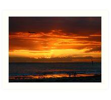 Glenelg Beach Art Print