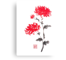 Royal pair sumi-e painting Canvas Print