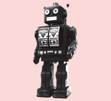 retro robot Kids Tee
