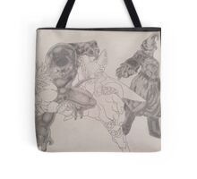 2 villians shaded 2 to go  Tote Bag