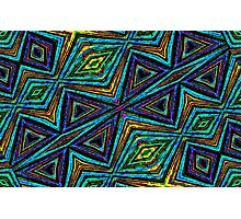Tribal Style Colorful Geometric Pattern Photographic Print