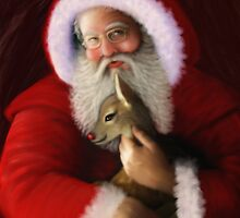 SANTA MEETS RUDOLPH  by DALE CRUM