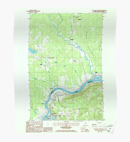 Maine USGS Historical Map Fort Kent North 807926 1985 24000 Poster
