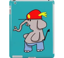 Ellie with red cap and pants iPad Case/Skin