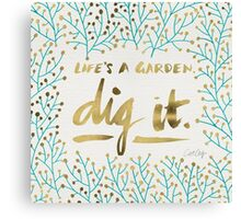 Dig It – Gold & Turquoise Canvas Print
