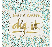 Dig It – Gold & Turquoise Photographic Print