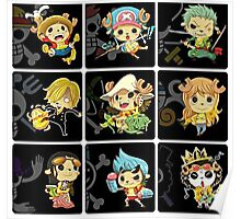 Chopper Straw Hats One piece Poster