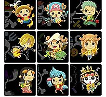 Chopper Straw Hats One piece Photographic Print