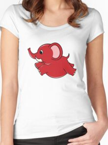 Plumpy Elephant Women's Fitted Scoop T-Shirt
