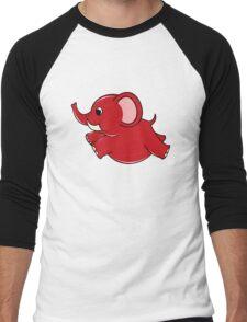 Plumpy Elephant Men's Baseball ¾ T-Shirt
