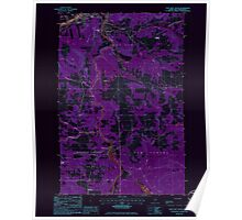 Maine USGS Historical Map Fort Kent South 807927 1985 24000 Inversion Poster
