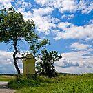 Austrian landscape with little chapel by Kurt  Tutschek