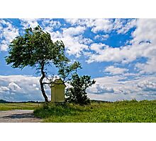 Austrian landscape with little chapel Photographic Print