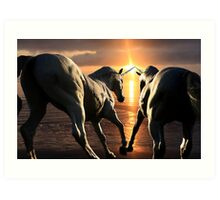 To See Unicorns Art Print