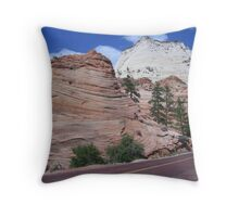 East side of Zion National Park Throw Pillow