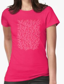 Red & White Berry Branches Womens Fitted T-Shirt