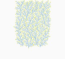 Blue & Chartreuse Berry Branches Unisex T-Shirt