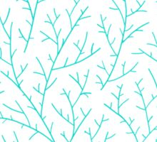 Red & Turquoise Berry Branches Sticker
