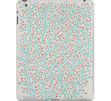 Red & Turquoise Berry Branches iPad Case/Skin