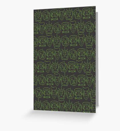 Monster Mash- Green Greeting Card