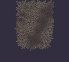 Gold Berry Branches on Navy T-Shirt