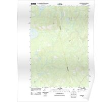 Maine USGS Historical Map Foster Ridge 20110906 TM Poster