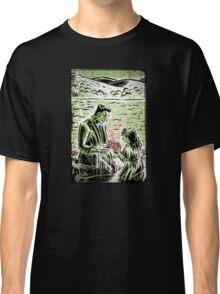 Frankenstein Boris Karloff girl flower classic picture show movie film hollywood famous monster of filmland Classic T-Shirt