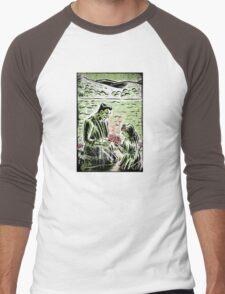 Frankenstein Boris Karloff girl flower classic picture show movie film hollywood famous monster of filmland Men's Baseball ¾ T-Shirt