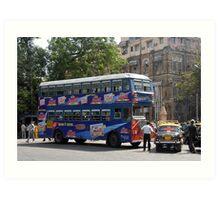 Mumbai Bus Art Print