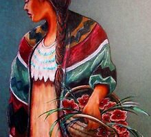 """""""The Flower Girl #2"""" by Susan Bergstrom"""