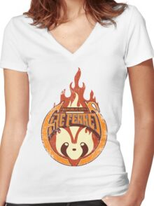 Vintage - Republic City Fire Ferrets Women's Fitted V-Neck T-Shirt